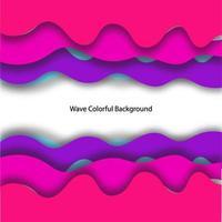Imprimir o projeto colorido do fundo da onda 3D vetor
