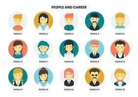 Conjunto de ícones de pessoas diferentes vetor