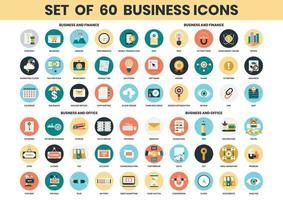 Conjunto de ícones de negócios, finanças e escritório