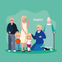 Cartaz da família do grupo vetor