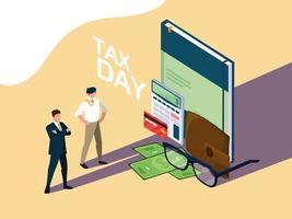 Suprimentos do dia do imposto vetor