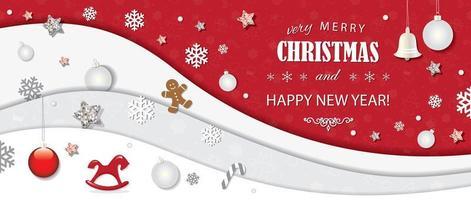 Natal e feliz ano novo cartão