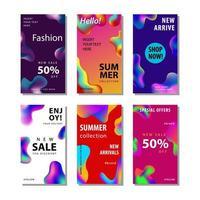 conjunto de 6 panfleto de venda de mídia social