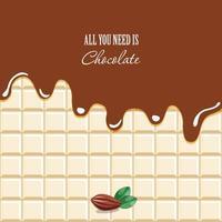 Fundo de chocolate derretido vetor