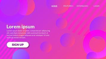 Fundo roxo violeta gradiente moderno abstrato vetor