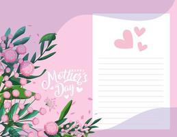 nota do dia das mães feliz vetor