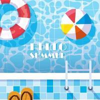 olá verão piscina lado
