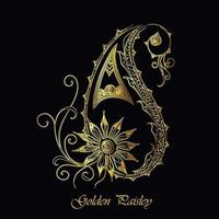 Design decorativo de Paisley do ouro elegante vetor
