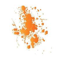 Respingos de tinta de cor laranja vetor