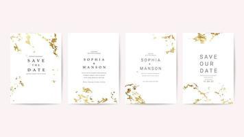Coleção de cartões de convite de casamento de luxo