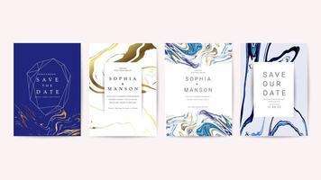 Coleção de cartões de convite de mármore