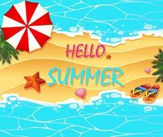 Olá modelo de banner de verão vetor