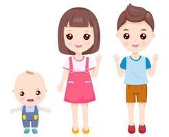 Família de crianças vetor