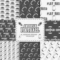 Coleção de time de futebol americano universitário padrão sem emenda em estilo retro vetor