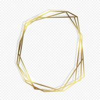 Moldura geométrica ouro vetor