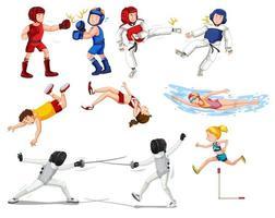 Conjunto de atletas vetor