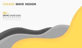 Projeto abstrato tecnologia sobreposição de linha amarela em fundo branco vetor