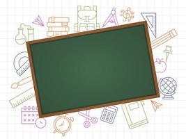 modelo de escola de quadro-negro vetor