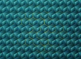 Projeto de tecnologia geométrica abstrata triângulos azuis gradiente