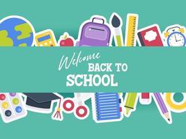 Bem-vindo de volta à escola vetor