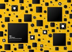 Resumo gradiente preto geométrico sobre fundo amarelo tecnologia