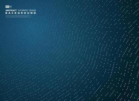 Fundo abstrato gradiente azul tecnologia linha