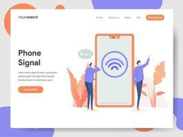 Modelo de página de destino Sinal Wi-fi vetor