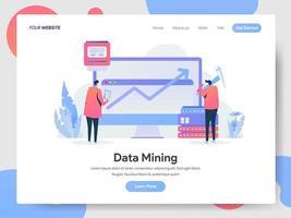 Conceito de ilustração de mineração de dados