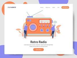 Conceito de ilustração de rádio retrô