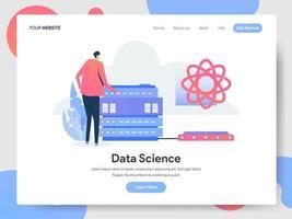 Conceito de ilustração de ciência de dados vetor