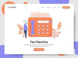 Conceito de ilustração de máquina de fax