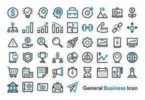Conjunto de ícones de negócios e finanças em geral