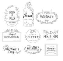 Modelos de logotipo floral premium para casamentos