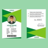 Cartão de identificação verde vetor
