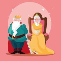 rei e rainha conto de fadas mágico