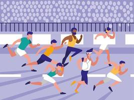 corrida de atletismo masculino vetor