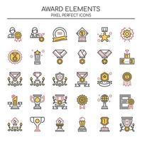 Conjunto de elementos de prêmio de linha fina Duotone