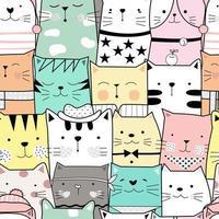 padrão sem emenda de gato bebê fofo