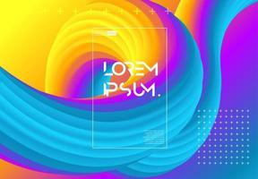 Página de formas futuristas de gradientes vetor