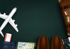 Projeto de conceito de turismo de viagens vetor
