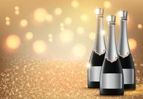 Garrafa de champanhe vetor