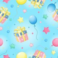 Padrão de vetor sem costura para aniversário