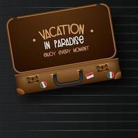 Vista superior na bagagem de viagem