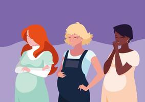 grupo de mulheres grávidas