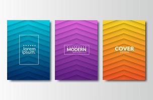Layout de padrões geométricos modernos
