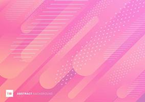 Linhas de gradiente líquido abstrato cor de rosa padrão vetor