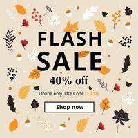 Cartaz de venda instantânea do elemento outono