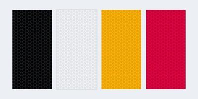 Banners em branco coloridos com texturas de favo de mel vetor