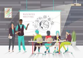 Pessoas em uma apresentação ou conferência de negócios vetor