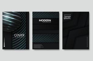 Layout de página abstrato moderno